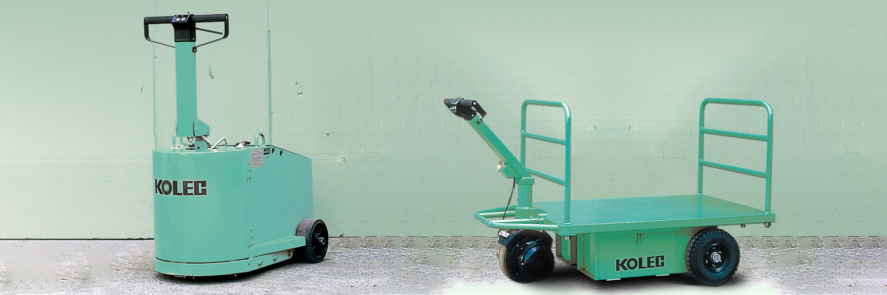 Pedestrian-Controlled Carrier and Towing Tractors